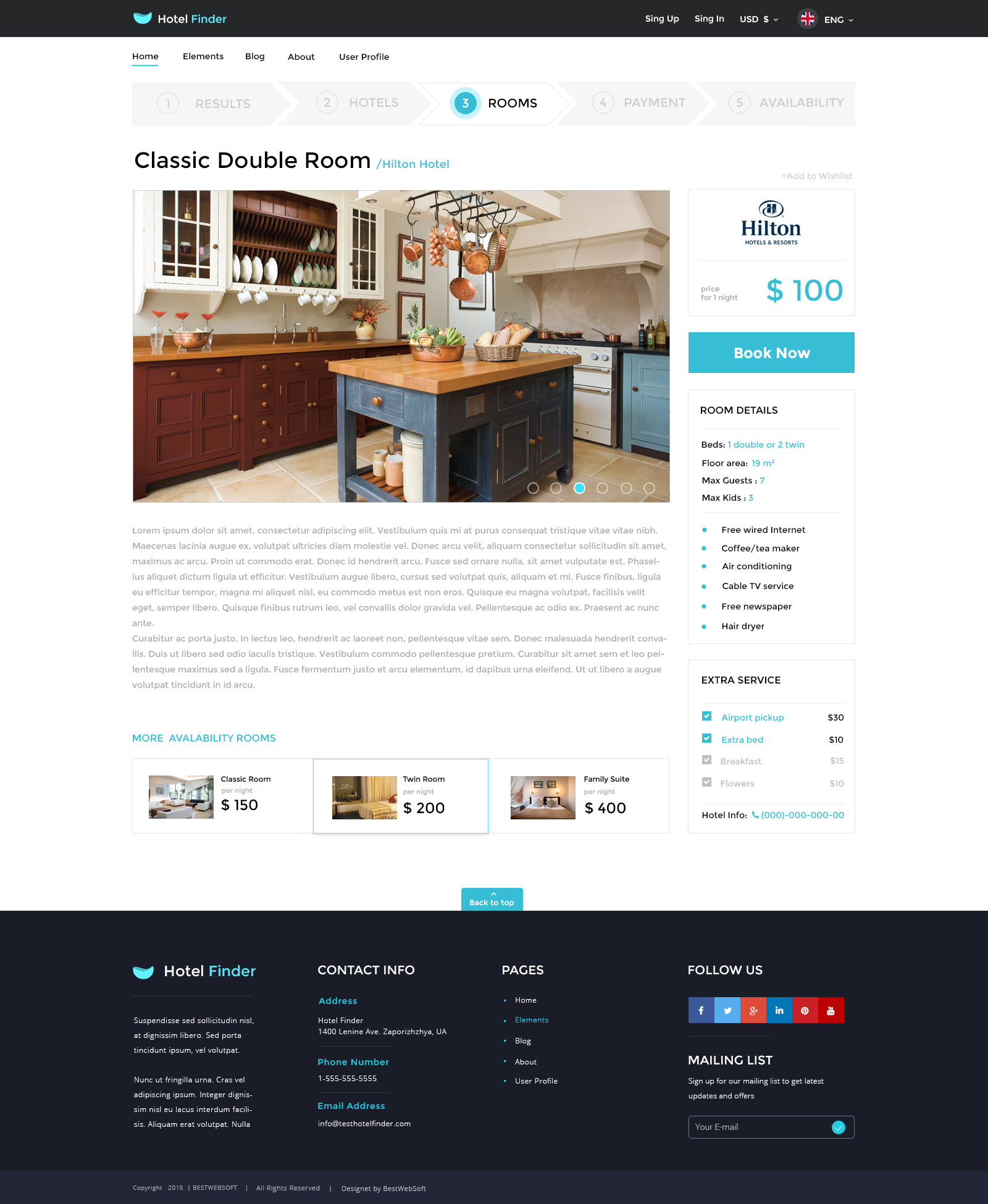 Hotel Finder Online Booking HTML Website Template By Bestwebsoft - Booking website template