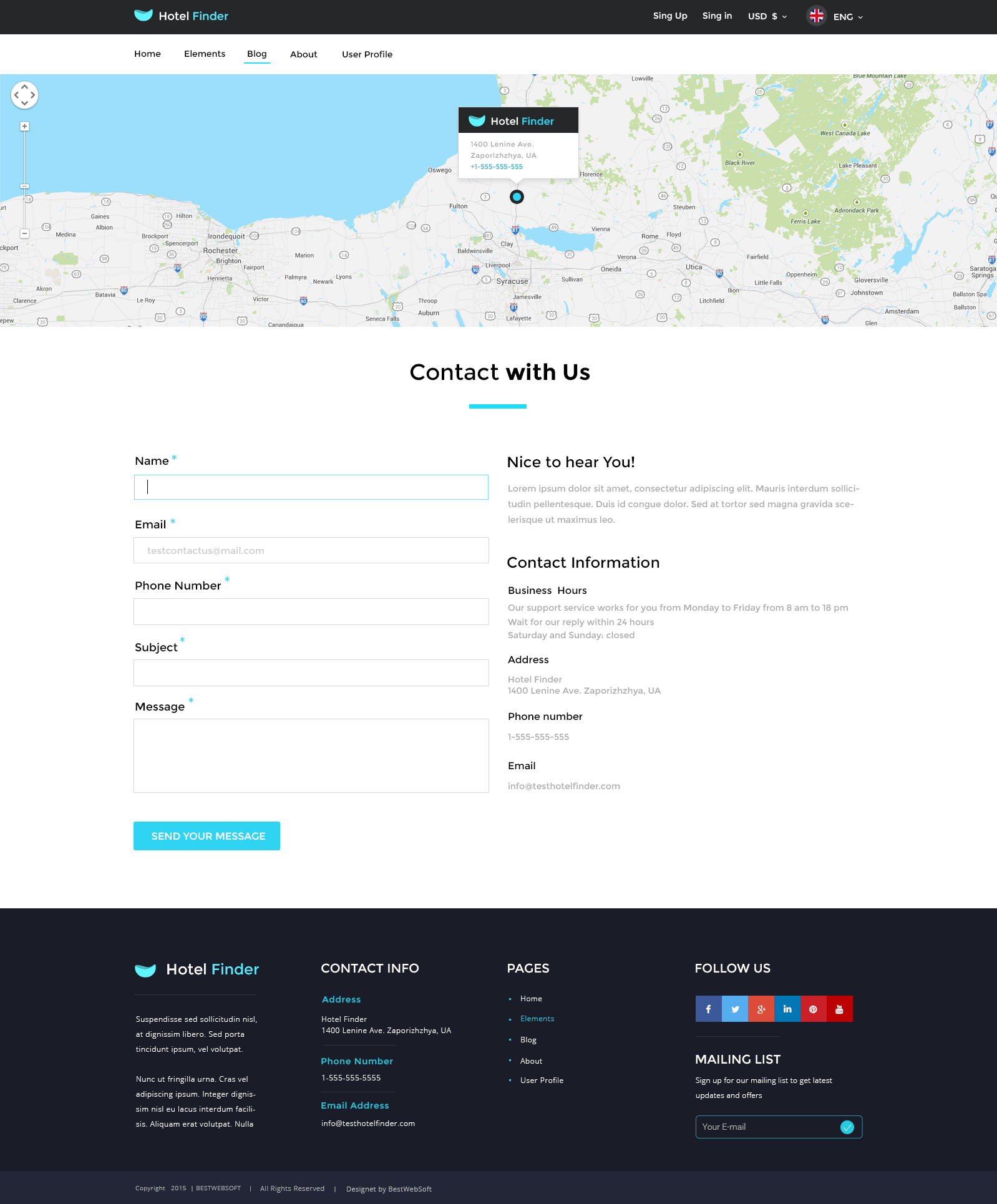 hotel finder online booking html website template by bestwebsoft