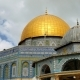 Panoramic of Dome of the Rock Mosque in Jerusalem