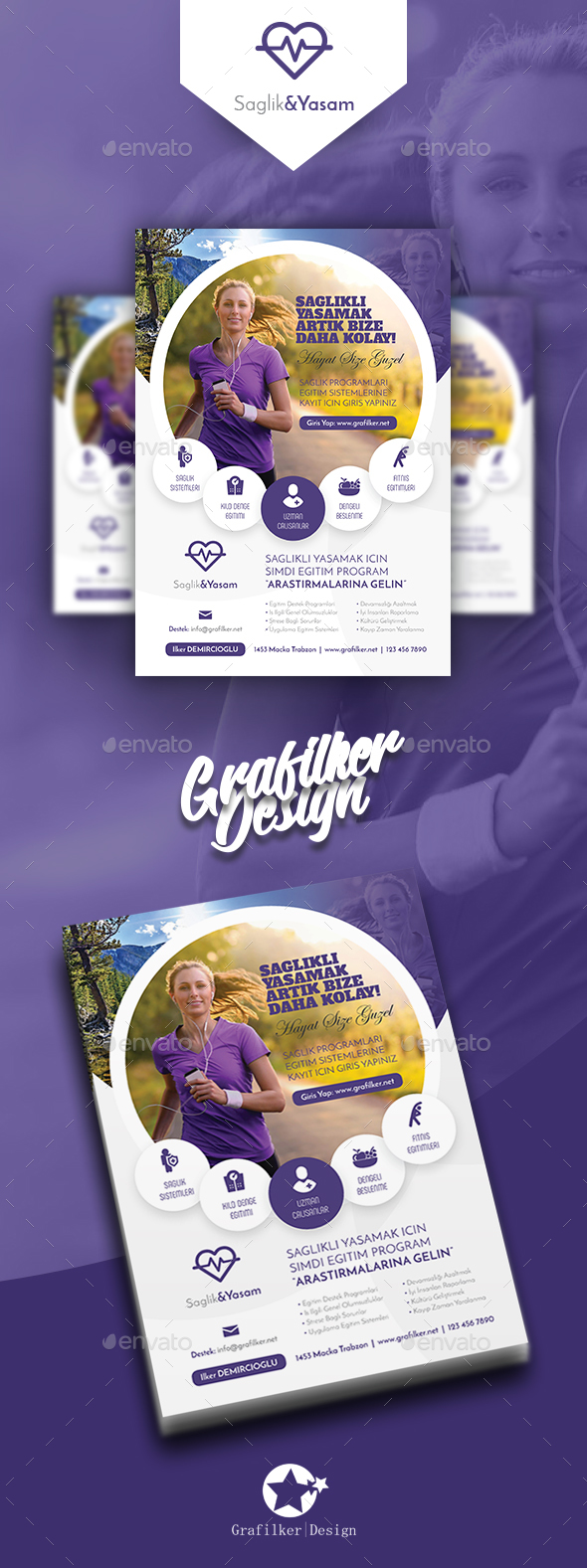 GraphicRiver Healthy Life Flyer Templates 20649588