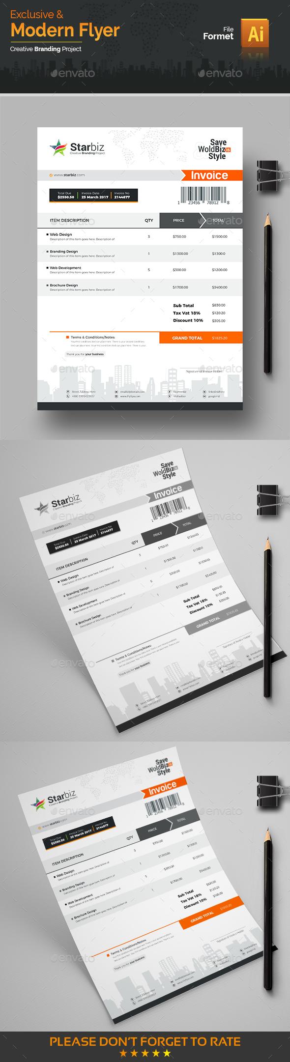 GraphicRiver Modern Invoice 20649737