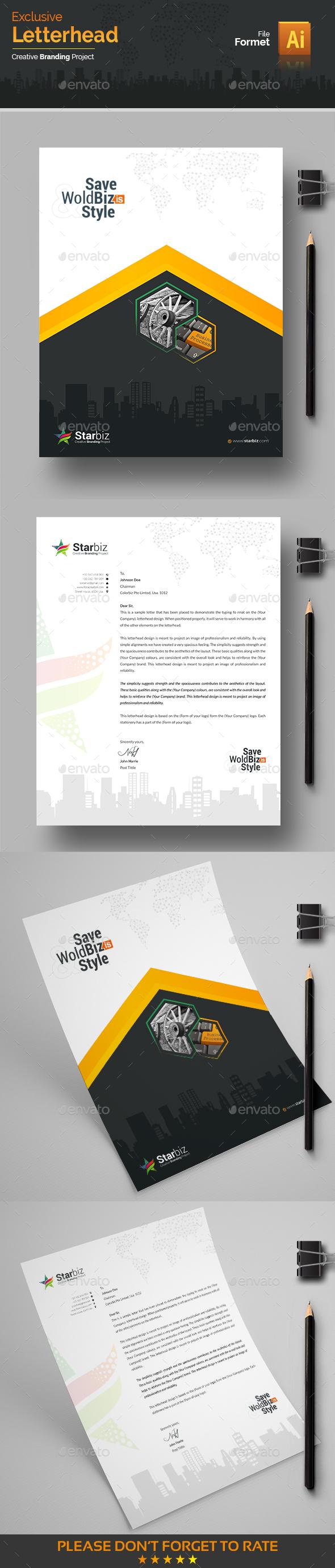 GraphicRiver Modern Letterhead 20649796