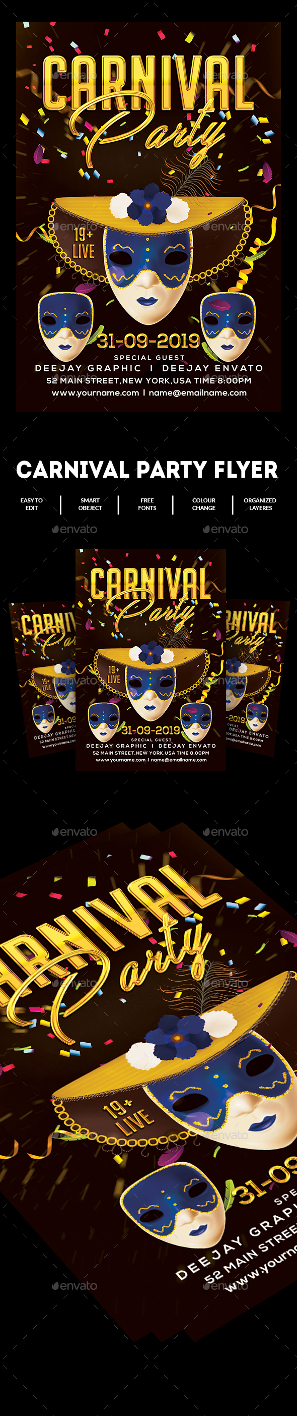 Carnival Flyer - Clubs & Parties Events
