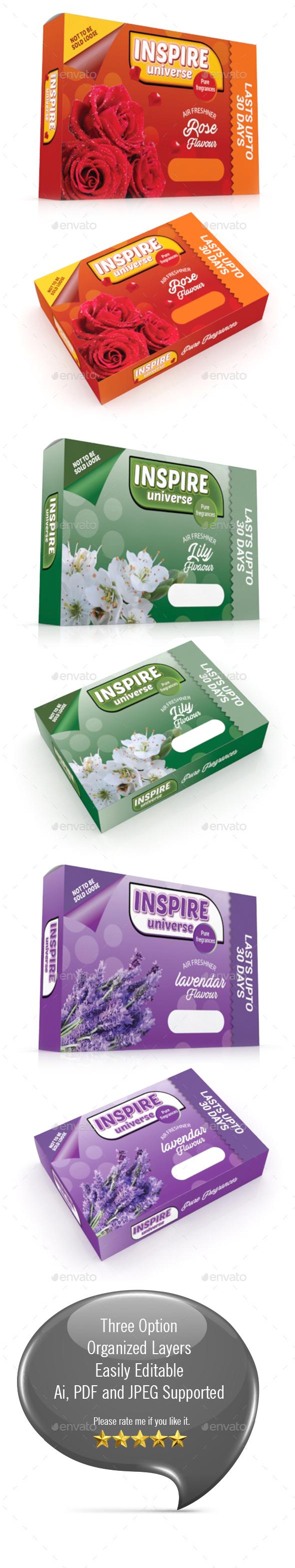Air Freshener Packaging Template - Packaging Print Templates