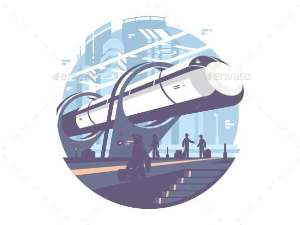GraphicRiver Hyperloop Express Transport Train 20649948
