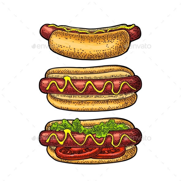 Hotdogs - Food Objects