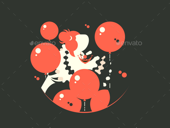 Evil Clown Character - Miscellaneous Vectors