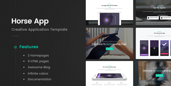 Horse App - Application HTML5 Template