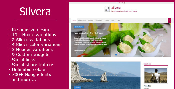 Silvera - Responsive WordPress Blog Theme - Blog / Magazine WordPress