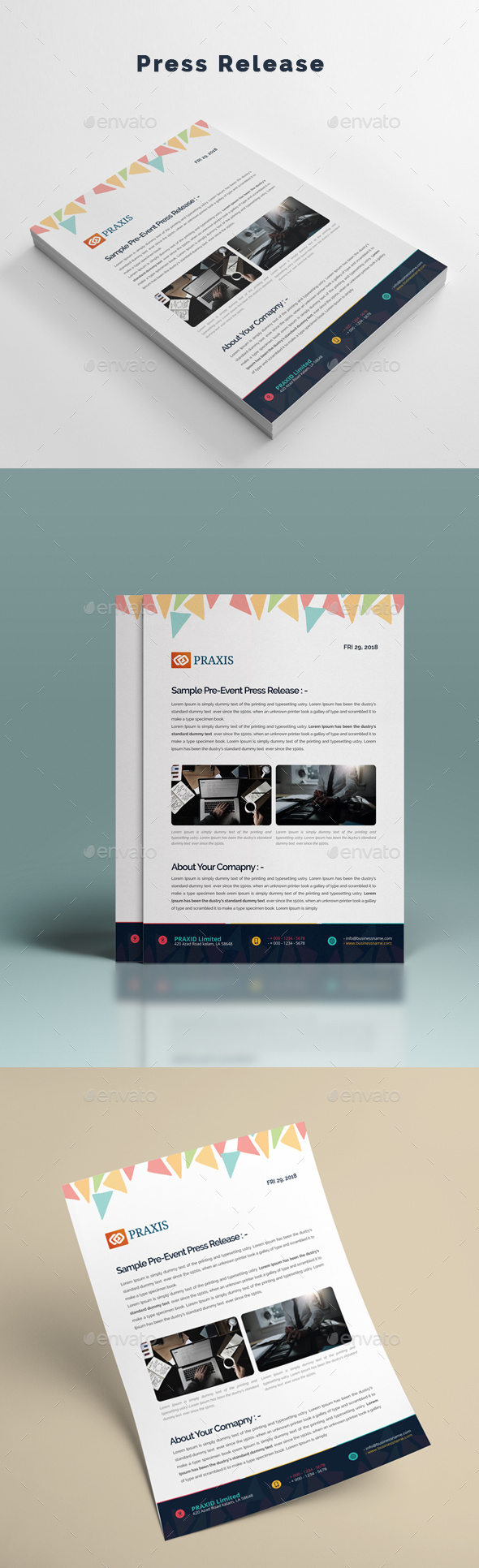 Press Release - Stationery Print Templates