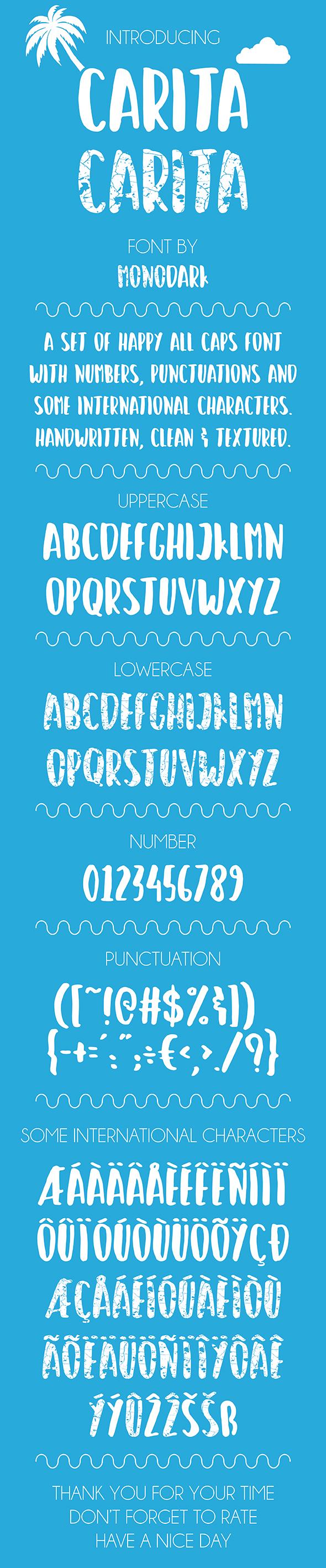 CARITA - Handwriting Fonts