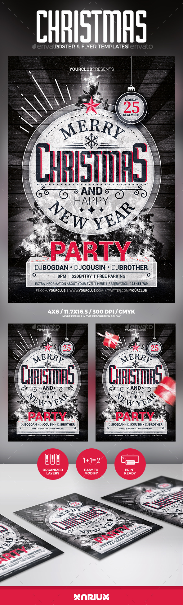 Christmas Party Flyer & Poster - Clubs & Parties Events