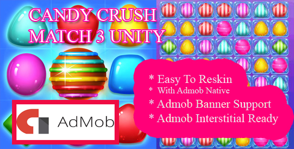 Candy blast Match 3 Unity - CodeCanyon Item for Sale