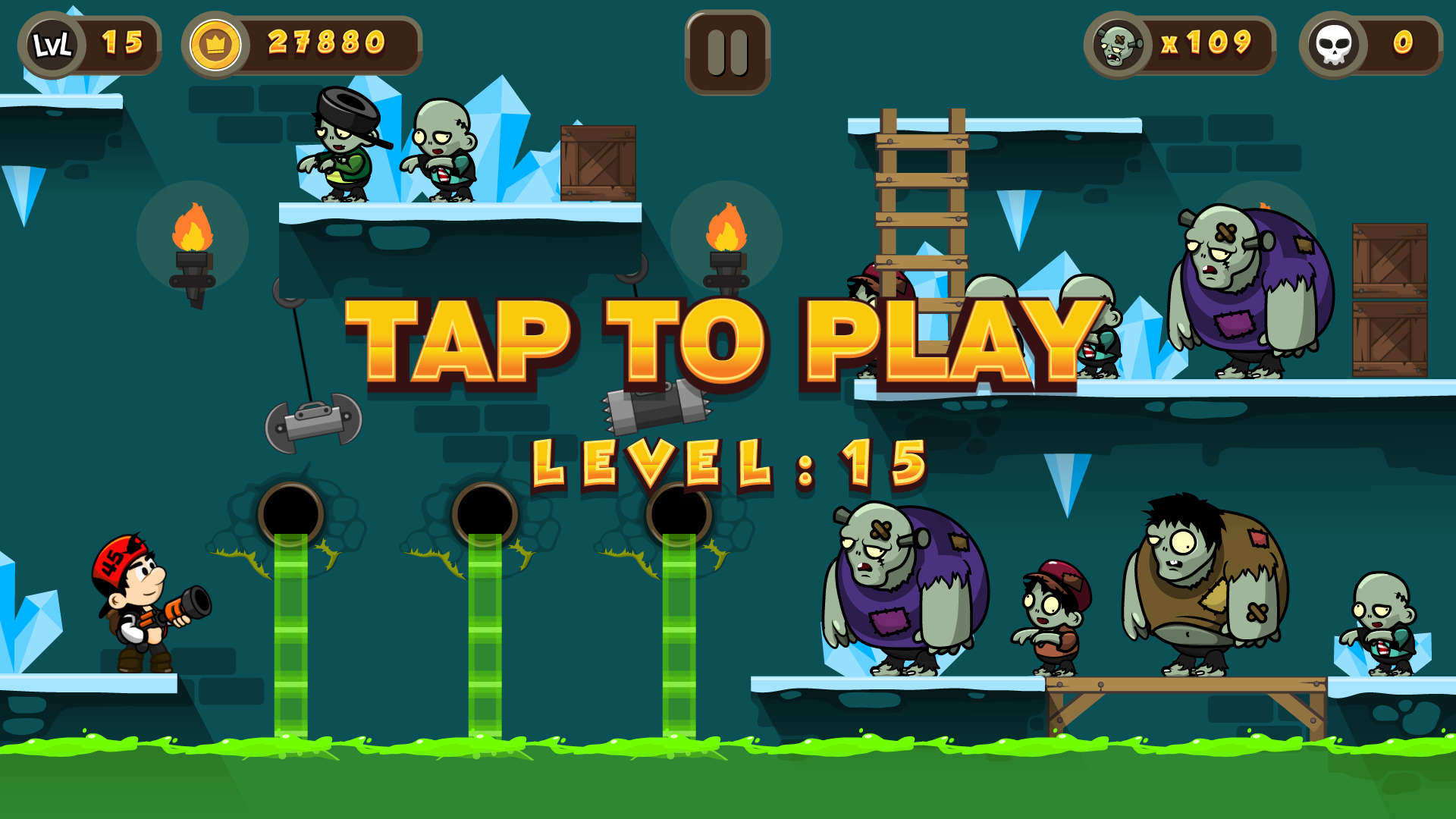 Zombie Buster Html5 Game 20 Levels Mobile Version Construct 3 Construct 2 Capx
