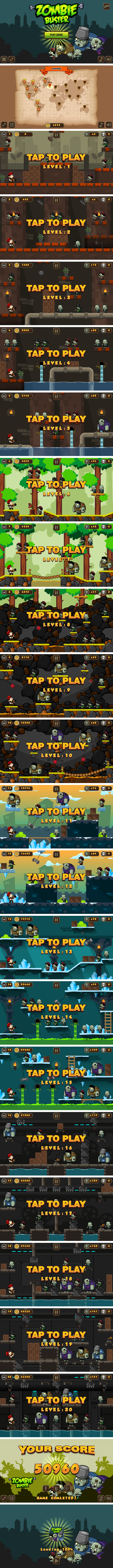 Zombie Buster - HTML5 Game 20 Levels + Mobile Version! (Construct 3 | Construct 2 | Capx) - 3