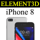 Element3D - iPhone 8 Collection - 3DOcean Item for Sale
