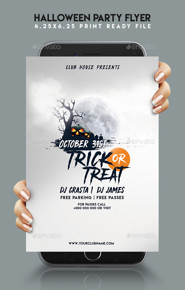 GraphicRiver Halloween Party Flyer 20650667