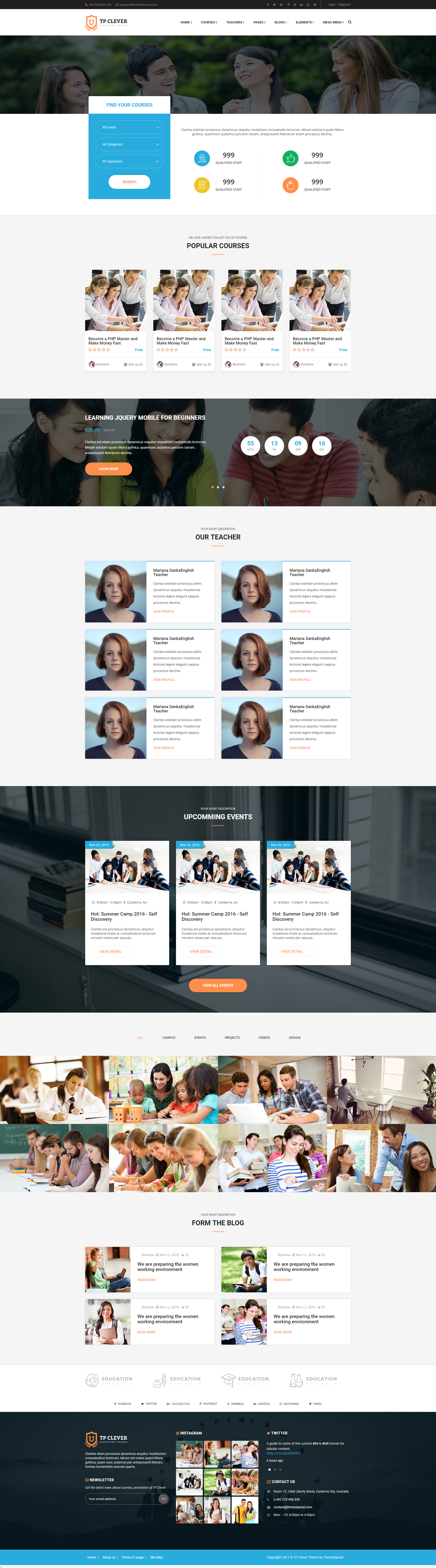 TP Clever - Education Multi-Purpose Responsive HTML Template by ...
