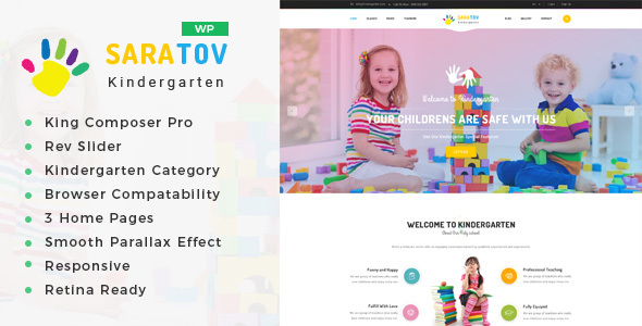 Image of Saratov - Day Care & Kindergarten School WordPress Theme