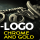 Chrome And Gold Logo