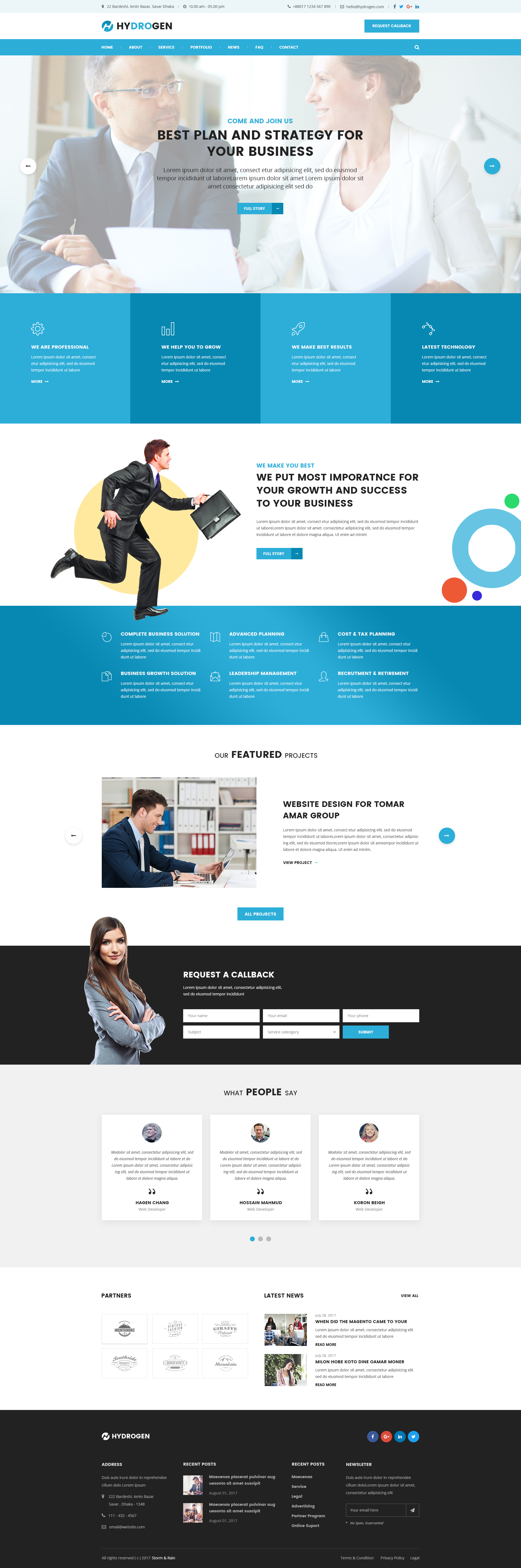Hydrogen corporate business website psd template by stormandrain website psd template business corporate preview00previewg preview01home01g preview02home02g cheaphphosting Gallery