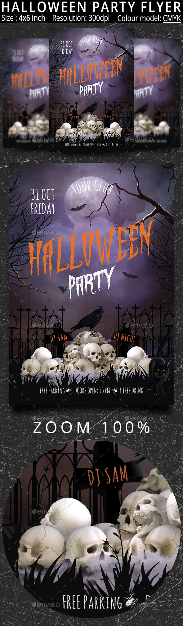 GraphicRiver Halloween Party Flyer 20651074