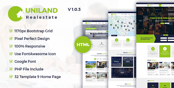 Uniland - Real Estate HTML5 Template