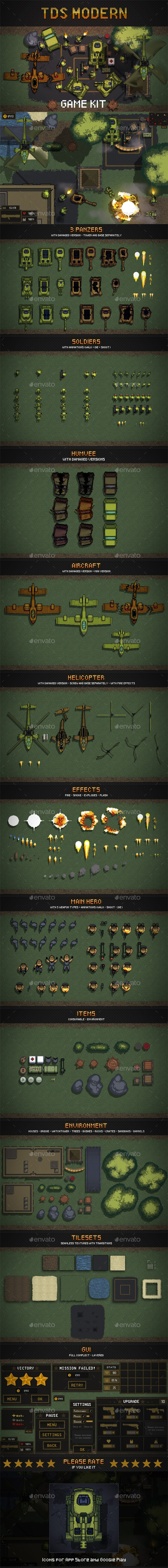 GraphicRiver TDS Pixel Art Game Assets 20651122