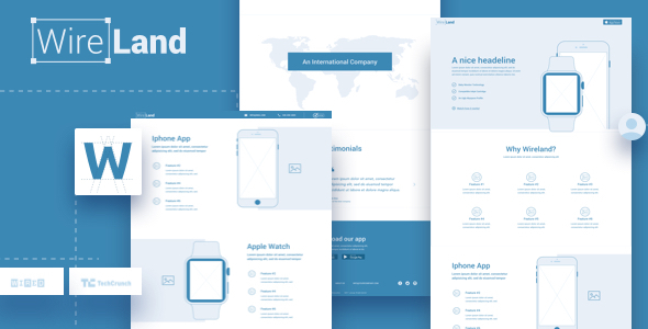 ThemeForest Wireland Wireframe Library for Web Design Projects Sketch Template 20651227