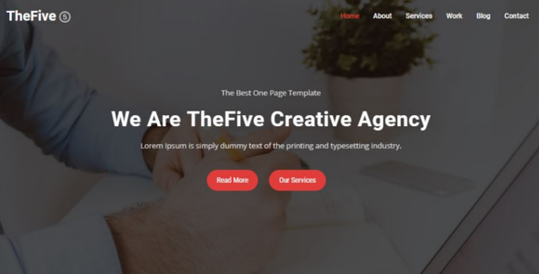ThemeForest TheFive one page parallax 20552224