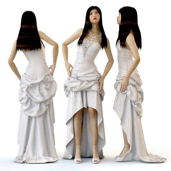 Women in dresses wedding evening - 3DOcean Item for Sale