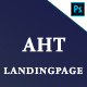AHT 3 Landingpage PSD Template - ThemeForest Item for Sale