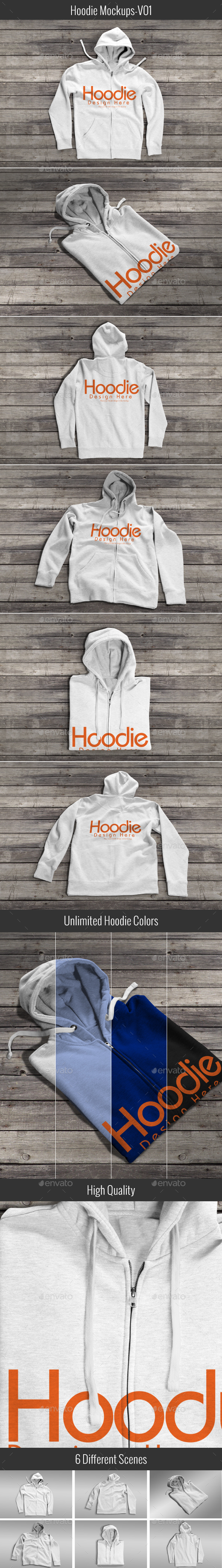 Hoodie Mock-up V01 - Apparel Product Mock-Ups