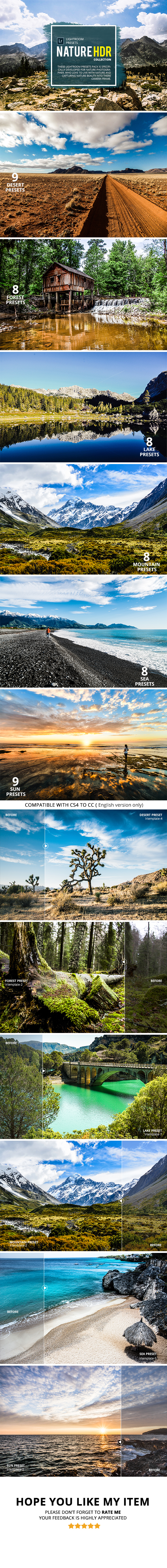 GraphicRiver Nature HDR Collection Lightroom Presets 20623893