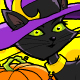 Black Cat with Witch Hat - GraphicRiver Item for Sale