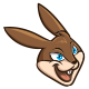 Running Rabbit Mascot