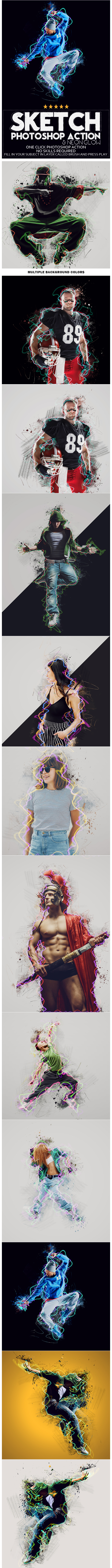 GraphicRiver Sketch Photoshop Action 20652201