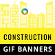 Construction Animated GIF Banners