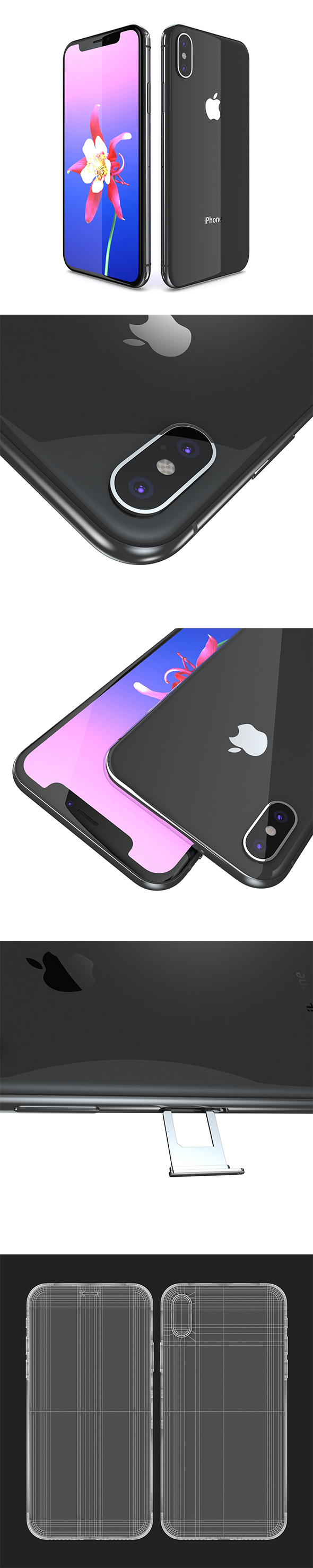 Apple iPhone X ( iPhone 10 Edition ) Space Gray - 3DOcean Item for Sale