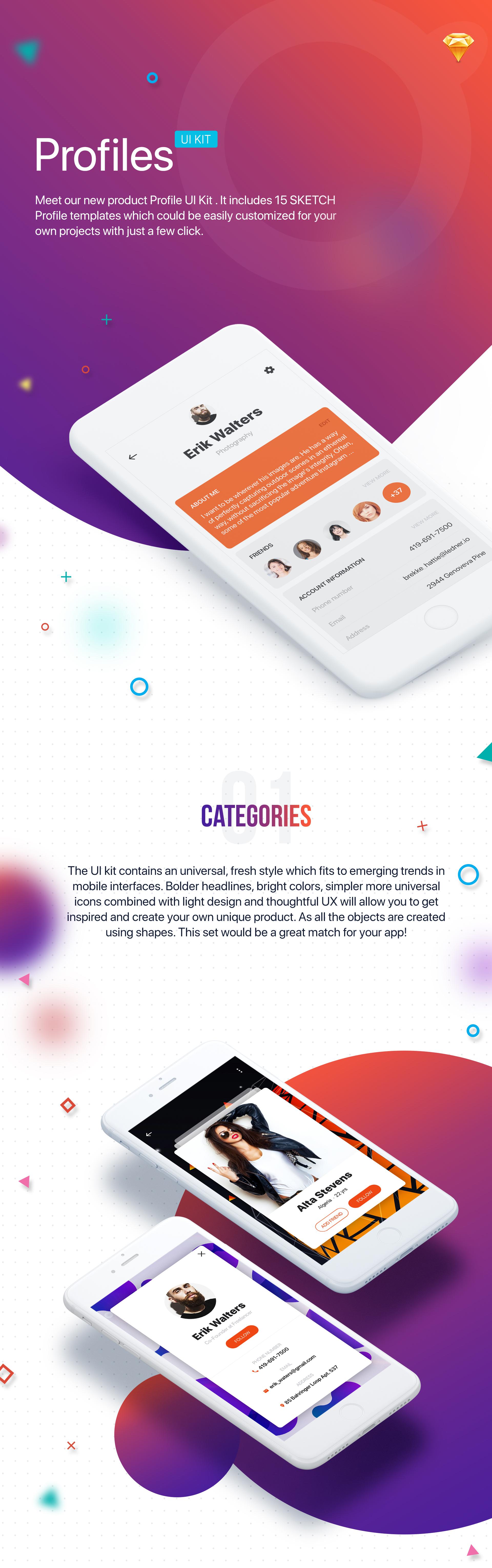 Profile UI Kit - 1