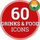 Drinks Beverages Restaurant Food Animation - Flat Icons and Elements - VideoHive Item for Sale