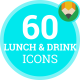 Beverage Drink Lunch Animation - Flat Icons and Elements