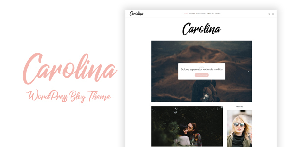 Carolina - Simple WordPress Blog Theme - Personal Blog / Magazine