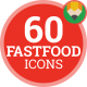 Fastfood Animation - Flat Food Meal Icons and Elements