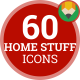 Home Stuff Room Things Animation - Flat Icons and Elements