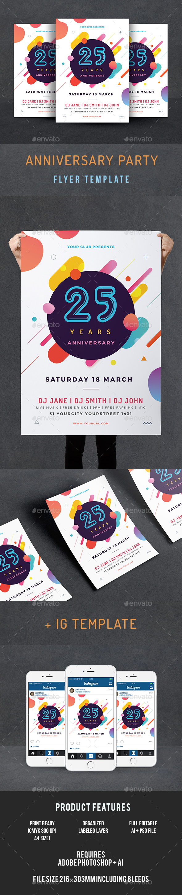 GraphicRiver Anniversary Flyer 20652595