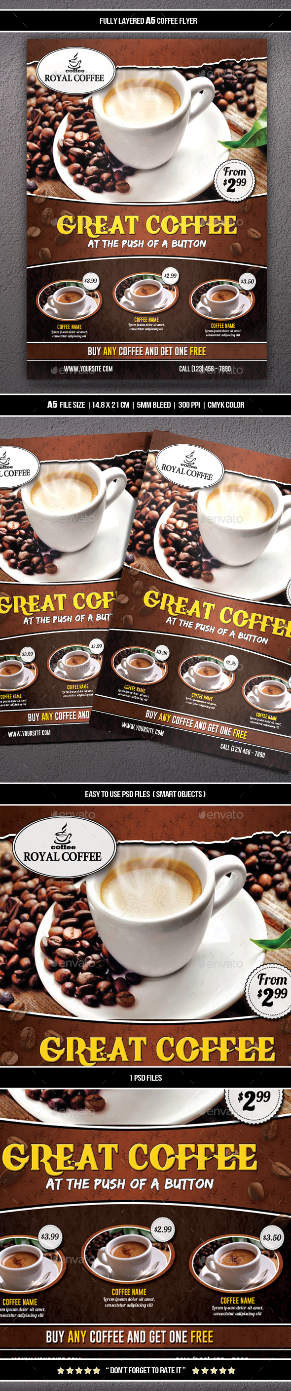 GraphicRiver Coffee Flyer A5 20652640