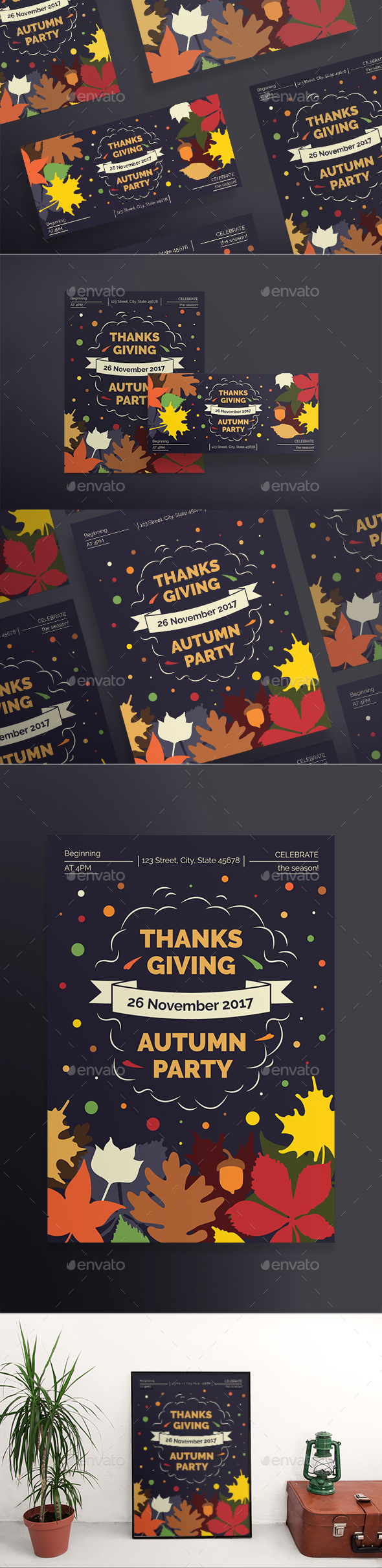 GraphicRiver Thanksgiving Party Flyers 20652679