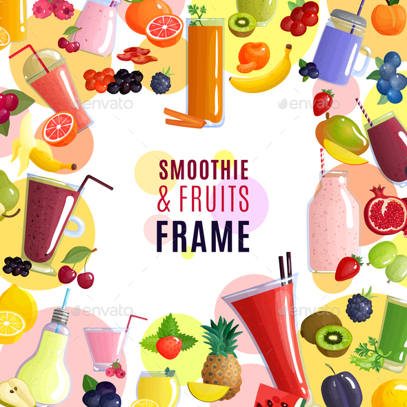 Smoothie Frame Background - Food Objects