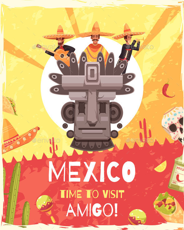 GraphicRiver Mexico Travel Poster 20653079